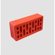 Кирпич керамический Эталон облицовочный пустотелый красный гладкий фото