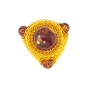 Кольцо для платка из янтаря 1-015-aw фото