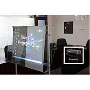 Пленка обратной проекции прозрачная темно-серая фото