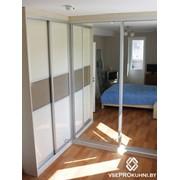 Угловой шкаф-купе минск, двери лакобель + зеркало фото