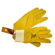 Перчатки кожаные с стягивателем р 10.5 фото