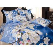 Комплект элитного постельного белья Сатин 3D фото