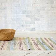 Handwoven cotton rug runner /Домотканый коврик- дорожка из хлопка. фото
