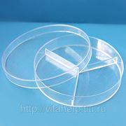 Чашки Петри, 90 мм, трехсекционные, 20 шт/упак фото