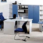 Кабинет руководителя №6 с журнальным столом и стеллажами фото