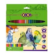 Карандаши цветные Zibi 24 цвета SOFT (ZB.2412) фото