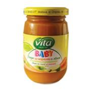 Пюре из моркови и яблок с сахаром Vita фото