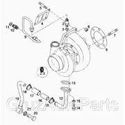 Турбина MAN TGA 18 480 Б/У Модель двигателя D2876LF12 51091007599 51091007599 фото