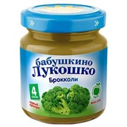 Б.лукошко пюре из капусты брокколи (с 4 мес) 100г фото