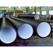 Двухслойная профиллированная труба КОРСИС для безнапорных трубопроводов ТУ 2248-001-73011750-2005 110мм фото