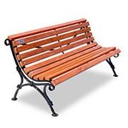 """Скамейка кованая """"Авен"""", кресло, 0,6м фото"""