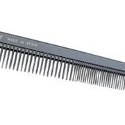 """Расчёска E00422 """"ES-422"""", комбинированная скошенная для височных и затылочных зон, нейлон. фото"""