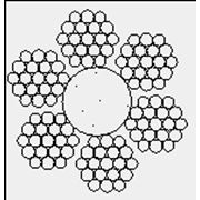 Канат двойной свивки типа ЛК-Р конструкции 6x19 ГОСТ 2688-80 фото