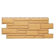 Фасадные панели T-Сайдинг, коллекция «Дикий камень» бежевый, 1090х455 фото