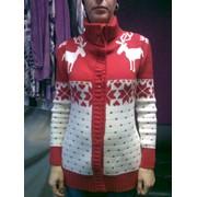 Кофта с оленями. Киев. Вязание детской одежды, Вязание детской одежды по заказу клиента, Вязание одежды в ручную с оленями, Вязание одежды с норвежским принтом. фото