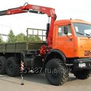Аренда манипулятора КАМАЗ 43118 (6х6) 7 тонн стрела и платформа 12 тонн фото