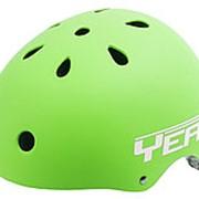 Шлем универсальный/ВМХ/FREESTYLE 11отв. суперпрочный 54-58см матовый зеленый YEAH! VENTURA фото