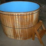 Купель деревянная с пластиковой вставкой фото