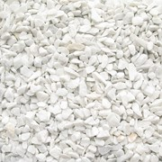 Мраморная крошка М2 белая фото