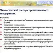 Экологический паспорт фото