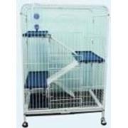 Клетка D800 для шиншиллы 3-х этаж.64х44х93 см фото