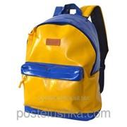 Рюкзак классика Украина DERBY с карманом для ноутбука 14* кожзам Желтый фото