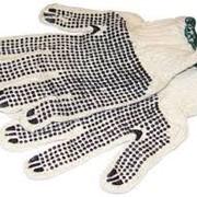 Перчатки трикотажные ладошка-точка фото