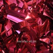 Конфетти-метафан красный металлизированный двухсторонний фото