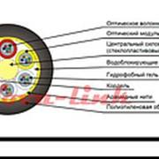 Кабель ВО SM 24 трубопровод 1,5кН негорючий групповая прокладка ДПО-НГ(А)HF-24У 1,5кН фото