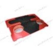 Акустическая полка на ВАЗ 2104 черно - красная, на фанере, пирамида фото