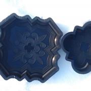 Форма пластиковая для производства тротуарной плитки, брусчатки «Краковский клевер». фото