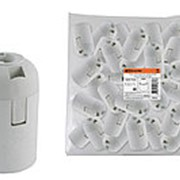 Патрон Е27 подвесной, термостойкий пластик, белый, Б/Н TDM фото