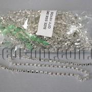 Металлическая цепочка со стразами SS8,5/10ярд 4044 фото