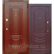 Дверь металлическая МД-30 красное дерево фото