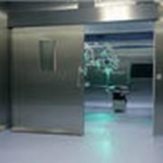 Ворота автоматические для стерильных помещений фото