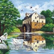 Картина по номерам Водяная мельница фото