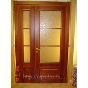 Дверь с расстекловкой из массива сосны фото