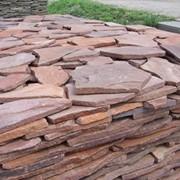 Укладка декоративного камня, плитки, укладка песчаника фото