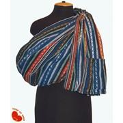 Слинг с кольцами из комбинированной ткани лен+хлопок фото