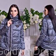 """Женская куртка с нашивкой """"Philipp Plein"""" из нейлона-хамелеон, в расцветках фото"""