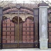 Ворота уличные кованые №39 фото