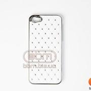 Накладка iPhone 5S (с стразами) категория №2 белый 73010a фото