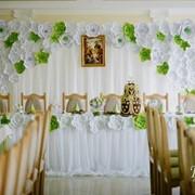 Оформление свадьбы бумажными цветами фото
