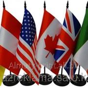 Изготовление настенных напольных настольных флагов фото
