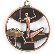 Медаль Спортивная Гимнастика бронза фото