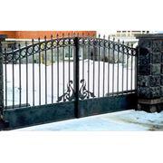 Ворота въездные фото