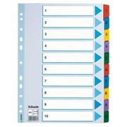 Разделитель цветной 1-10 картон Esselte фото