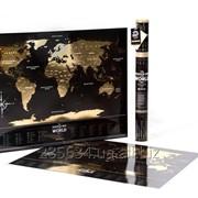 """Скретч мапа Світу """"Travel Map Black World"""" фото"""