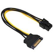 Переходник питания видеокарты PCI-Express 6-контактный на 1 SATA штекер Orient С512 - 20см фото