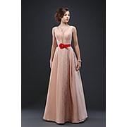 Вечернее платье с широким лаковым поясом АДРИАНА фото